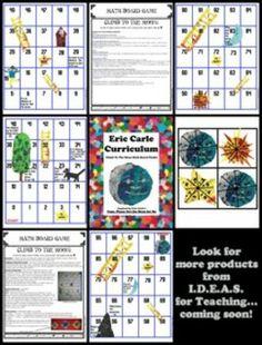ERIC CARLE'S PAPA, PLEASE GET THE MOON FOR ME COMMON CORE MATH BOARD GAME - TeachersPayTeachers.com