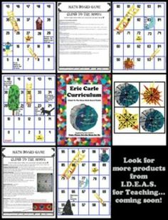ERIC CARLE'S PAPA, PLEASE GET THE MOON FOR ME COMMON CORE MATH BOARD GAME - TeachersPayTeachers.com