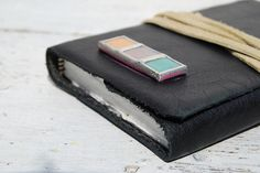 Handmade Leather Journal Ladys Black Pocket Diary by NewSouthBooks, $70.00
