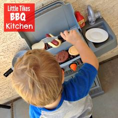 Little Tikes BBQ Kitchen - This is one of the best outdoor #ToddlerToys for summertime.  My two year old loves playing with this out on the back patio.