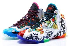 """Missed out on this year's run of LeBron James signatures? Miss out on all the must-have LeBrons since the start? Play catch up the easy way the upcoming Nike LeBron 11 """"What the LeBron"""" release. Lebron 11, Nike Lebron, Lebron James, Air Jordan Sneakers, New Sneakers, Sneakers Nike, Adidas Shoes, New Nike Shoes, Nike Shoes Outlet"""