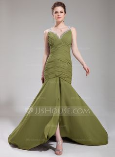Evening Dresses - $142.29 - Mermaid Sweetheart Court Train Chiffon Tulle Evening Dress With Ruffle Beading Sequins (017019469) http://jjshouse.com/Mermaid-Sweetheart-Court-Train-Chiffon-Tulle-Evening-Dress-With-Ruffle-Beading-Sequins-017019469-g19469?ver=0wdkv5eh