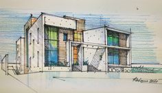 Public Library Design, Perspective Sketch, Interior Design Sketches, House Sketch, Architecture Drawings, Sketchbooks, Designs To Draw, Design Model, Transportation