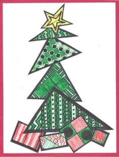 "COLORING SHEETS FOR CHRISTMAS ""FREE TRICKY TRIANGLE TREE"" - http://www.teacherspayteachers.com/Product/Coloring-Sheets-for-Christmas-Free-Tricky-Triangle-Tree-1546069  PROJECT OVERVIEW-PURPOSE: To provide the primary student with holiday related quiet independent seat work for small muscle development and exposure to creative pattern design. Also, helps the children realize that the special things come in all different kinds of ""packaging""."