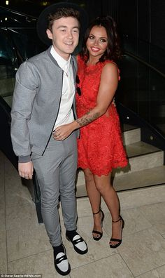 Huggin' and a kissin': Jesy Nelson and Jake Roche were out for the evening at the Once upon a Smile Ball at the Hilton hotel in Manchester