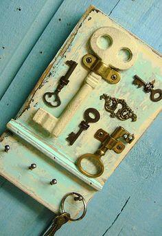 Seafoam Key Rack for the beach house keys.                                                                                                                                                     More