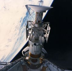Magellan Venus orbiter released from STS-30 Space Shuttle Atlantis.