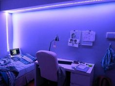 1709 // need some LEDs in my life stat Neon Bedroom, Bedroom Decor, Bedroom Ideas, My New Room, My Room, Cute Room Decor, Baby Decor, Aesthetic Room Decor, Room Goals