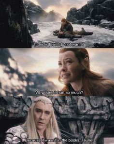 Because it wasn't in the books, Tauriel