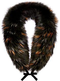 Tipped Fox Fur Wrap