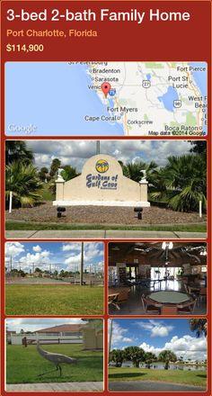 3-bed 2-bath Family Home in Port Charlotte, Florida ►$114,900 #PropertyForSaleFlorida http://florida-magic.com/properties/54861-family-home-for-sale-in-port-charlotte-florida-with-3-bedroom-2-bathroom