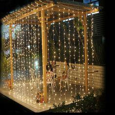 New 3 M x 3 M 300 LED extérieure accueil de noël décoratif noël cordes fée rideau guirlandes bande lumières de partie pour le mariage dans Guirlandes LED de Lumière et éclairage sur AliExpress.com | Alibaba Group