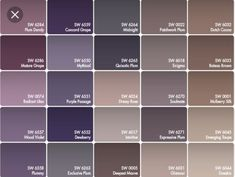Color scheme for little girls room! Purple and grey walls, tan carpet. Brown accents in furniture. Love it!