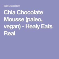 Chia Chocolate Mouss