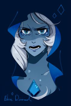 Blue 💎 i love her eyes TTT,,, Blue Diamond Su, Blue Diamond Steven Universe, Steven Universe Gem, Universe Art, Studio Ghibli, Disney Pixar, Spiderman, Cartoon Games, Gumball