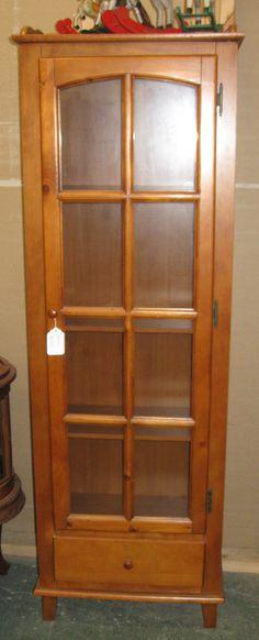 Simple Shaker Style Honey Curio Cabinet. $225