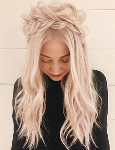 Fantastic ideas of half up half down crown braids to sport in 2018. Here we're going to share some of the top trends of braids styles for every woman which you may wear for attractive hair look in these days. Have a try these best braid styles nowadays and make you look more sexy and cutest with these awesome styles.