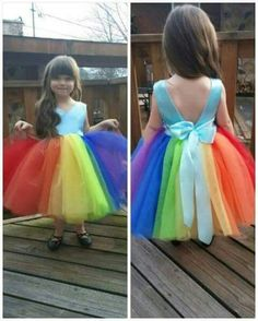 Inspired Rainbow dash dress