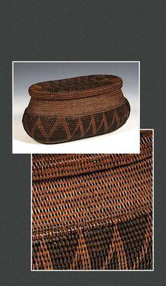 Vannerie Mukenge de l'ethnie Lozi Rotse, Zambie. Fin 19éme, début 20éme siècle.