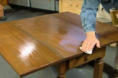 Learn how to restore rather than refinish an antique table with a scratched and lifeless finish