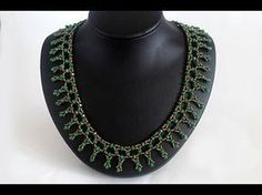 Beaded Necklace with Seed&Bugle Beads. Beaded Necklace Patterns, Lace Necklace, Seed Bead Necklace, Love Bracelets, Jewelry Bracelets, Necklace Tutorial, Diy Schmuck, Beading Tutorials, Jewelry Making