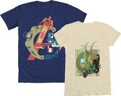 """It's the first Wednesday of 2013 - time for the return of WE LOVE FINE WEDNESDAY!    Repin this post within the next week and you are entered to WIN either """"Assembled"""" or """"God of Mischief"""" - your choice of the two grand-prize winners from our 2012 Marvel design contests! Mens AND women's sizes available! Good luck!"""