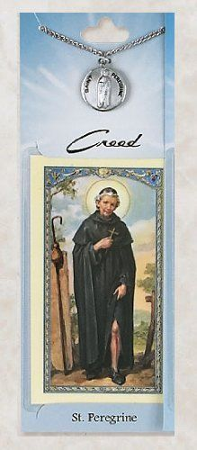 Prayer Card with Pewter Medal St. Peregrine Hail Mary Gifts. $10.95