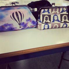 Mine and Hattie's purses in textiles