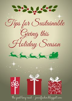 Sustainable Gift Giving Ideas via #multiculturalkidblogs Great tips here! A must pin!! #conveyawareness