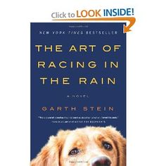 The Art Of Racing In The Rain:  Dogs and race cars.  Now we're talking.  http://www.amazon.com/Art-Racing-Rain-Novel/dp/0061537969/ref=sr_1_1?s=books&ie=UTF8&qid=1329691200&sr=1-1