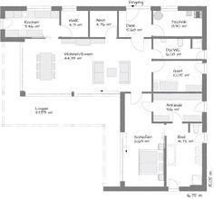Moderne bungalow met platdak - Plan (Bungalow 139)