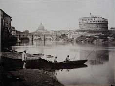 1868/70 Verzaschi Enrico (attr.) Tevere a Ponte S. Angelo