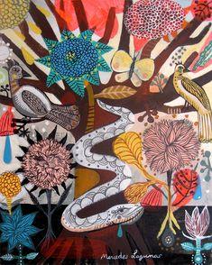 Tree of Life. Original Art painting Acrylic on by BohoGarden, $95.00
