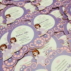 Deposit for Sofia the first Carriage Invitation - Princess invite by BirthdayPartyBox on Etsy https://www.etsy.com/listing/217858080/deposit-for-sofia-the-first-carriage