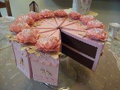beautiful paper cake