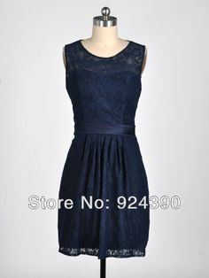 Free-Shipping-Navy-Blue-Scoop-Neckline-Sheath-Backless-Lace-Above-Knee-mini-Short-Bridesmaid-Dress.jpg (600×800)