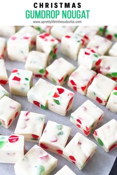 This Christmas Gumdrop Nougat Candy is an easy no-bake treat that's perfect for the holiday season. Great as a homemade gift! This Christmas Gumdrop Nougat Candy is an easy no-bake treat that's perfect for the holiday season. Great as a homemade gift! Christmas Snacks, Xmas Food, Christmas Cooking, Christmas Goodies, Baking For Christmas, Christmas Treat Gifts, Easy To Make Christmas Treats, Holiday Gifts, Christmas Games