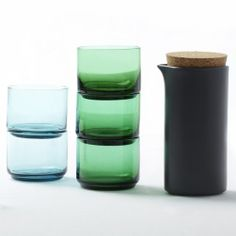 love these stackable glasses