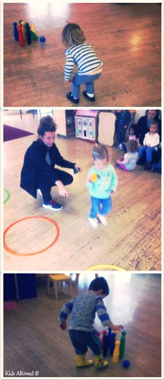 Yesterday morning at Christies, our activity coordinator Rosie devised a couple of games to improve our throwing and hand-eye coordination. We played skittles and also tried throwing the beanbags into the rings. #eyfs