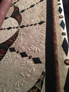 Machine Quilting Patterns, Quilt Patterns, Quilting Ideas, Free Motion Quilting, Longarm Quilting, Millefiori Quilts, Whole Cloth Quilts, Quilt Border, Traditional Quilts