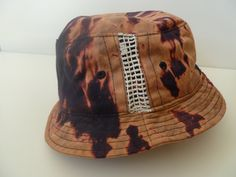 ACID washed, custom cotton bucket hat with side mesh panels Festival. Oasis, Dope, unisex, by ConfettiTieDye on Etsy