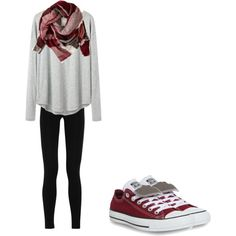 Fall Outfit #14 by lexmad on Polyvore featuring polyvore, fashion, style, Organic by John Patrick, Emilio Pucci, Converse and American Eagle Outfitters