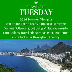 Travel Tip Tuesday: 2016 Summer Olympics.
