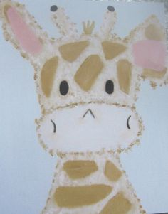 Giraffe Print Kids Wall Art by AnimalCracker on Etsy