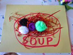 Cooking and Baking Unit: Soup Craft Preschool Projects, Preschool Class, Preschool Activities, Fun Crafts For Kids, Summer Crafts, Kid Crafts, Preschool Cooking, Duck Soup, First Grade Writing