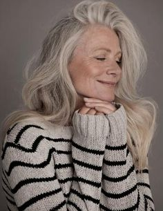 Attractive Women With Gray Hair | think long, grey hair is so beautiful on older…
