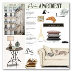 """""""Paris 48°51′24″n 2°21′07″e"""" by cafejulia ❤ liked on Polyvore featuring interior, interiors, interior design, home, home decor, interior decorating, Haussmann, Dot & Bo, Eichholtz and Hawkins"""