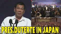 President Duterte State Visit Japan and meets Filipino Community October...