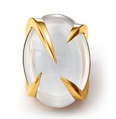 Tito Pedrini Artigli Oval Ring in White Moonstone Contemporary Jewellery, Modern Jewelry, Jewelry Art, Jewelry Rings, Silver Jewelry, Jewelry Accessories, Fine Jewelry, Jewelry Design, Jewelry Making