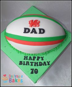 Welsh rugby cake design #wales #rugby St Davids Day Cakes, Cupcake Birthday Cake, Cupcake Cakes, Celtic Food, Rugby Cake, Bake My Cake, Cupcakes For Men, Wales Rugby, Dad Cake
